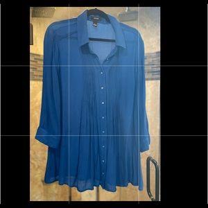Blue Alfini blouse